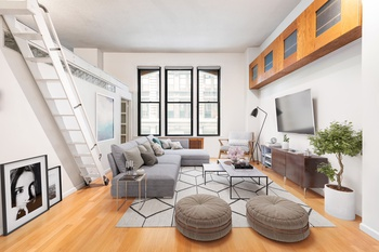 Double Height Windows & Ceilings in 1 bedroom plus loft in Tribeca